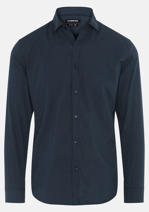 Navy Brendan Slim Shirt