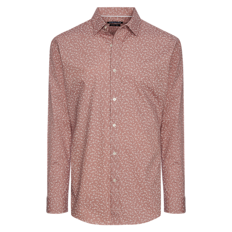 Dusty Pink Ranson Slim Shirt by Connor