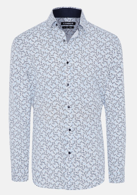 Light Blue Kyoto Slim Shirt