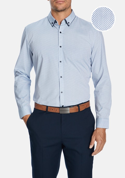Blue Boston Slim Shirt