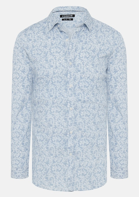 Blue Crescent Slim Shirt