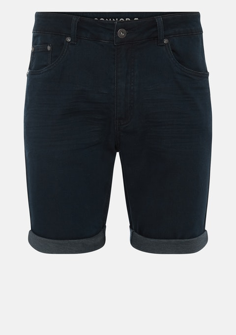 Blue/black Ted Denim Short