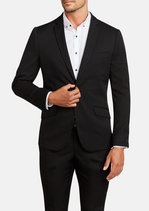 Black Diamond Stretch Skinny Suit Jacket
