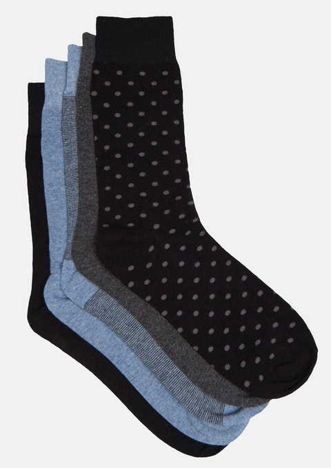 Charcoal 5pk Design Sock