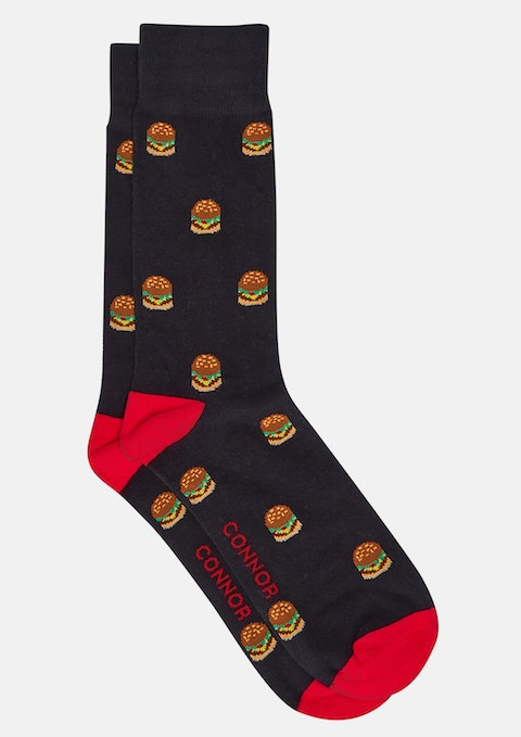 Black Burger Sock