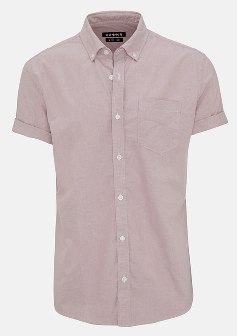 Dusty Pink Chapson Slim Shirt