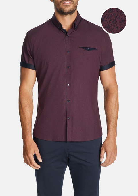 Wine Lauro Slim Shirt
