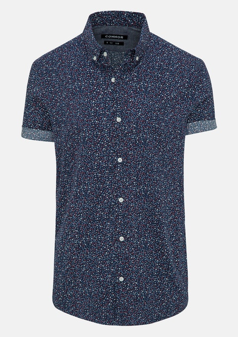 Navy Charles Slim Shirt