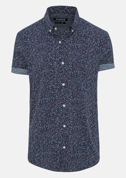 Navy Charles Slim Shirt