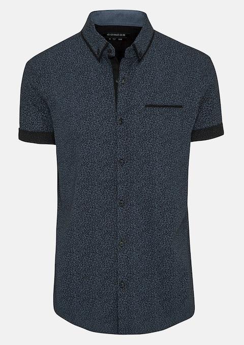 Ink Davidson Slim Print Shirt