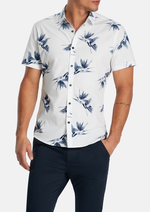 White Marcos Print Shirt