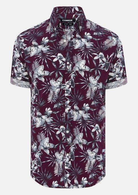 Wine Hobbs Slim Shirt