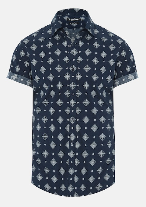 Navy Bonanza Slim Shirt