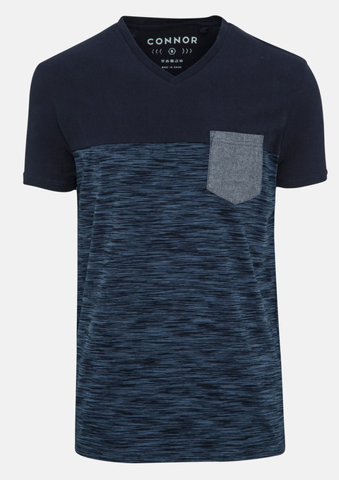 Navy Swift V Nk Tee