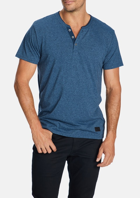 Blue Anthony Henley Tee