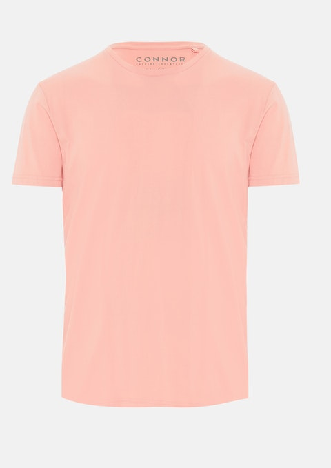 Coral Essential Crew Tee
