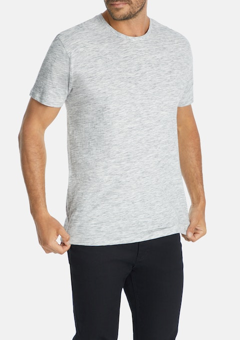 Light Grey Textured Longline Tee