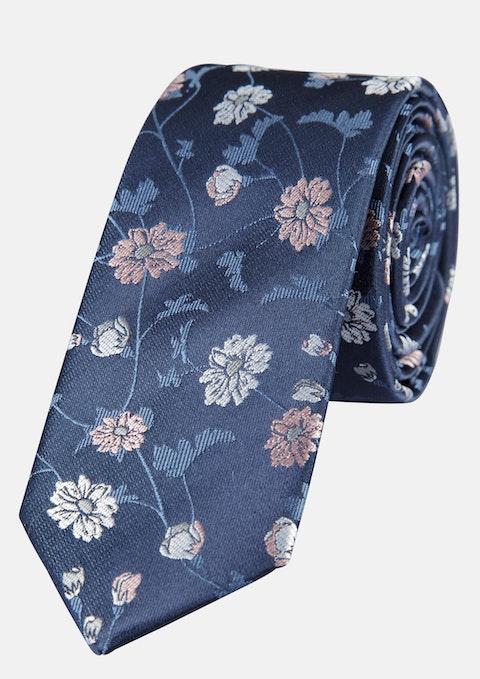 Navy Jacquard 6cm Tie