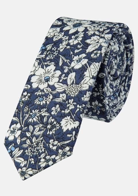 Navy Printed 5cm Tie