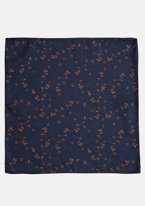 Rust Jacquard Pocket Square