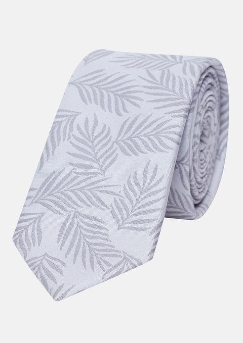 Silver Palm 6cm Tie