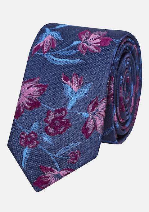 Plum Floral 6cm Tie