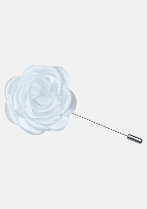White Flower Lapel Pin