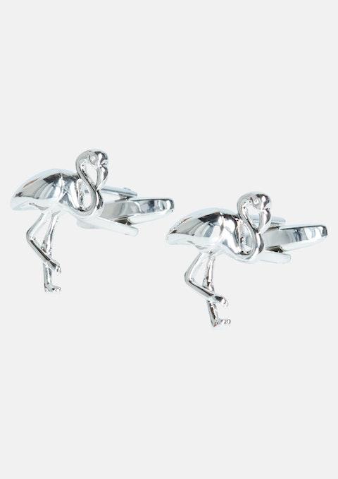 Silver Flamingo Cuff Link