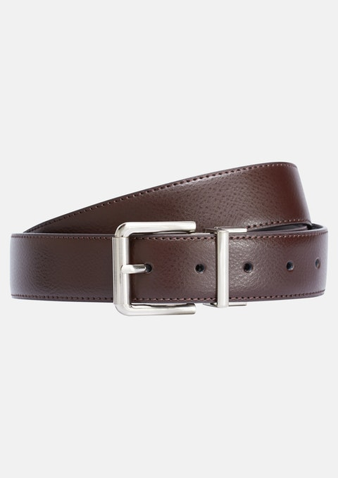 Black Chocolate Stapleton Reversible Belt