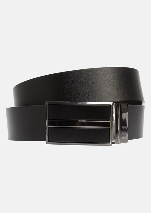 Black Chocolate Carrington Reversible Belt