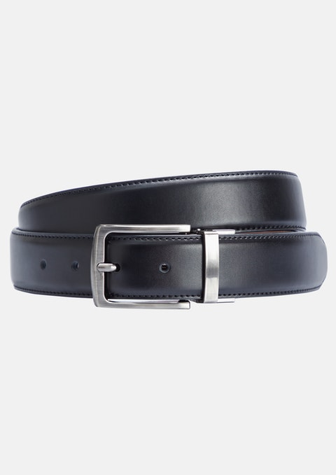 Black Tan Archer Reversible Belt
