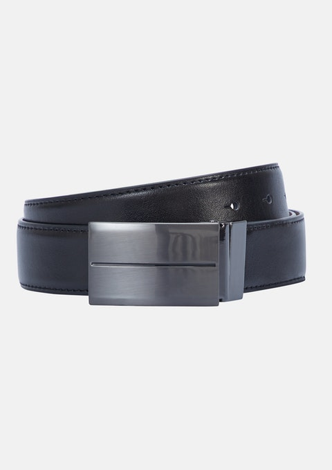 Black Chocolate Perry Reversible Belt