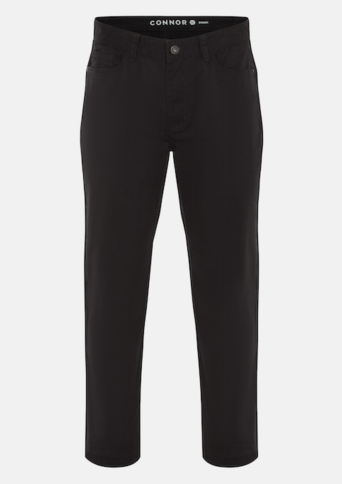Charcoal Maxfield Stretch Straight Pant