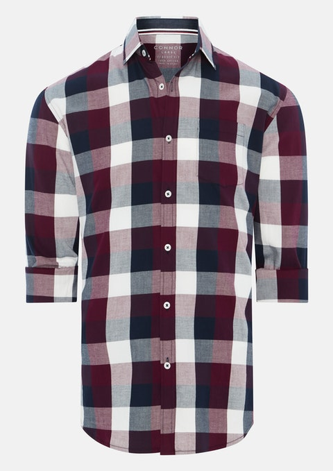 Wine Atwell Casual Shirt