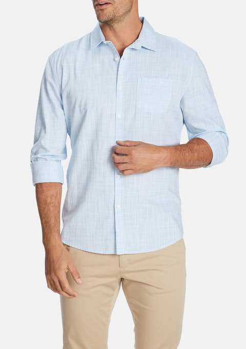 Light Blue Clancy Casual Slim Shirt