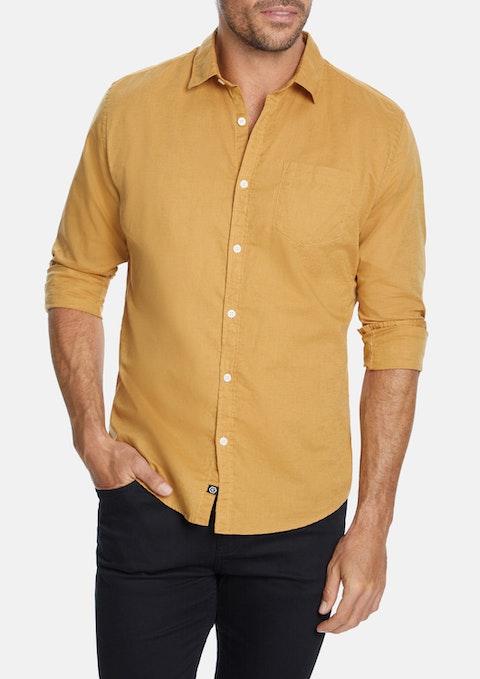 Camel Albany Linen Blend Casual Shirt