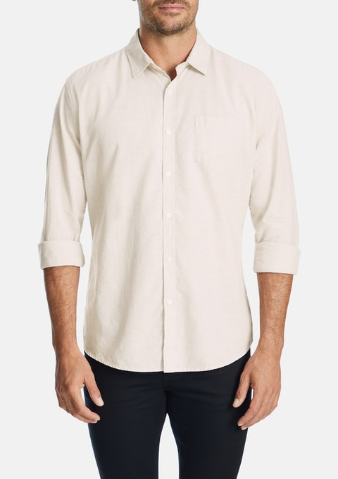 Sand Albany Linen Blend Casual Shirt