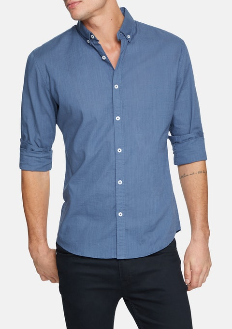 Blue Portofino Slim Casual Shirt