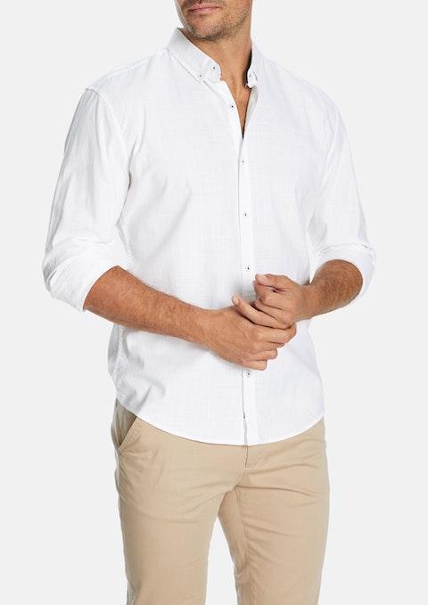White Portofino Slim Casual Shirt
