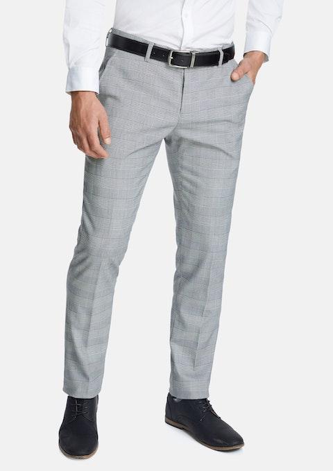 Grey Paxton Skinny Check Dress Pant
