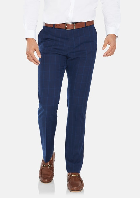 Navy Brooklyn Slim Dress Pant