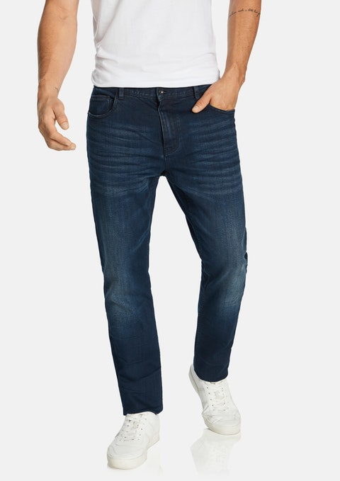 Dark Blue Belmore Tapered Jean