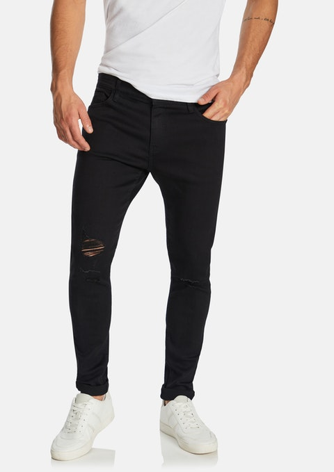 Black Zach Skinny Ripped Jean