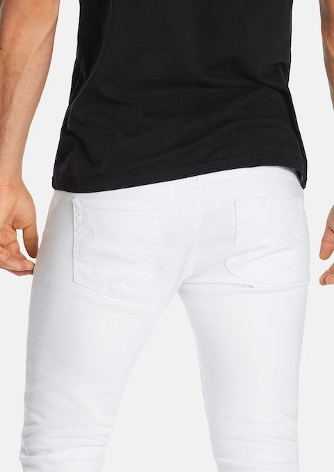 White Travis Skinny Ripped Jean