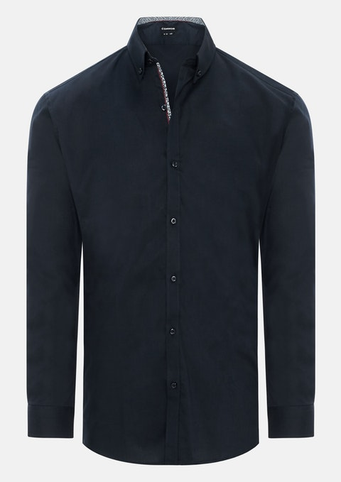 Navy Ipswich Slim Dress Shirt