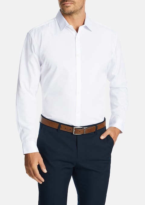 White Albert Dress Shirt