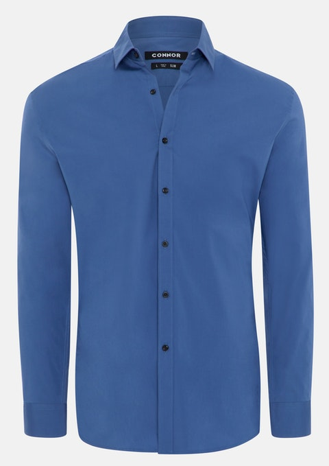 Blue Barnes Slim Dress Shirt