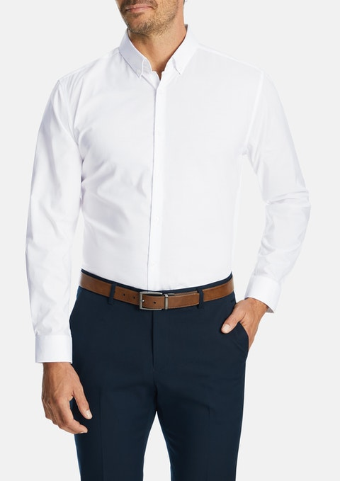 White Wingrove Slim Dress Shirt