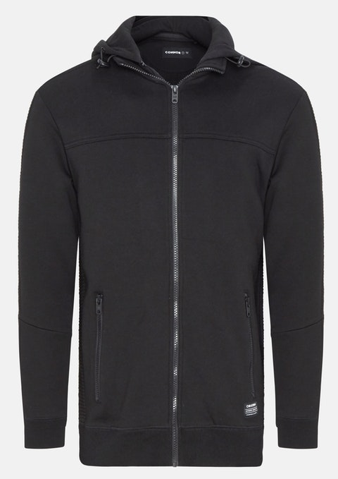Black Gladstone Sweat Jacket