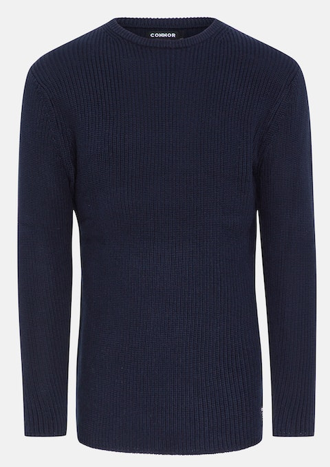 Navy Chase Knit